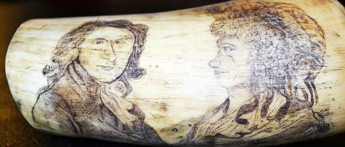 Superb scrimshaw from Curious Antiques